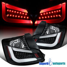 For 2011-2013 Scion tC LED Tail Brake Lights Rear Stop & Signal Lamps All Black