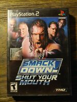 WWE SmackDown Shut Your Mouth (Sony PlayStation 2) CIB - Tested - See Desc