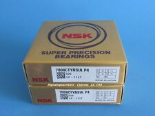 NSK 7008CTYNSULP4 Abec-7 Super Precision Spindle Bearings. Matched Set of Two