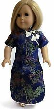"Navy Asian Dress made for 18"" American Girl Doll Clothes"
