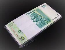 100 x Zimbabwe 10 Dollar banknotes-full uncirculated currency bundle