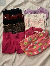 Toddler Girl's Fall/Winter 11 Piece Clothing Lot Leggings Shirts Pajamas 24mo/2T