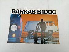 Prospekt brochure German Barkas B 1000  VINTAGE RARE SELTEN!!!