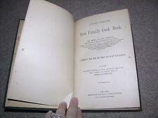 Scarce 1885 antique Juliet Corson's New Family Cook Book, Cookbook