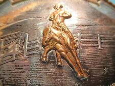 Cutting Horse 1970's IRVINE JACHENS STERLING SILVER FRONT Belt Buckle