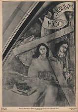 Lithografie: Fotografie, Malerei, Fresko, Martin Schongauer, Engel mit Kreuz.