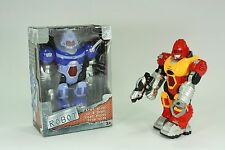 B/O Robot with Light & Sound RED or Blue 28cm Tall Arms & Head Moves Kids Toy