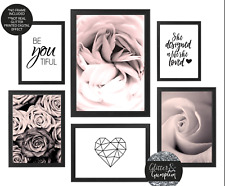 Pink Rose Gallery Wall Prints,Girls bedroom quote,beauty salon fashion print 24
