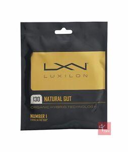 Luxilon Natural Gut 130 Tennis String Set - 16/1.30mm - Natural