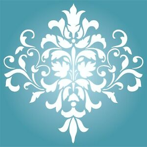 Damask Stencil Reusable Large Floral Allover Pattern Wall Stencil Template