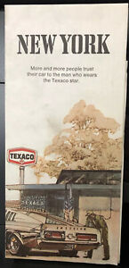 Vintage Texaco New York Road Map 1972 Ford Mustang Fastback