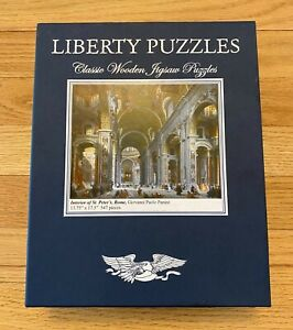 """Liberty Wooden Jigsaw Puzzle """"Interior of St. Peter's, Rome - Panini"""" 547 pcs"""