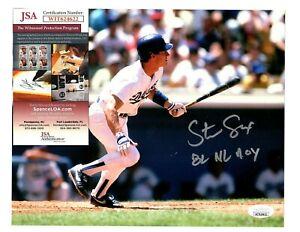 Steve Sax Signed Autograph LA Dodgers 8x10 Photo W/82 NL ROY - JSA WIT624622
