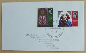 1967 Gibraltar Christmas First Day Cover