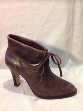 French Connection Brown Ankle Leather Boots Size 37