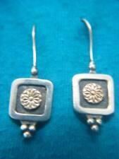 14K Gold Earrings Israel Stunning Flowers Sterling Silver
