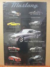 vintage Ford Mustang car models original poster man cave garage 8022