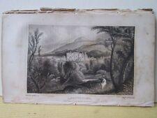 Vintage Print,ABBOTSFORD SEAT,Scottish Tourist,c1850