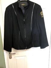 """Ladies Brand New Pompoos Ultra Sassy Black Jacket size Xxxl 44"""" Bust BNWT"""