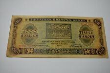 1000 kuna 1943 Croatia banknote