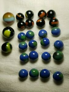 Marble King Marbles Lot With Shooters Lot of 27 Marbles. (Lot#26)