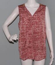NWT Womens Michael Kors Sleeveless Surplice Snakeskin Blouse Top Shirt Sz Large