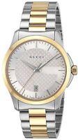 GUCCI Quartz  G-Timeless Silver Dial Men's Watch Two Tone Stainless YA126450