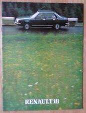 Renault 18 Sedán Gama 1980-81 Reino Unido MKT prestigio folleto de ventas