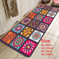1/2PCS Non-Slip Kitchen Floor Mat Area Rug Runner Door Pad Carpet Home Decor