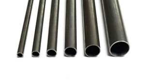 Mild Steel Round Tube Pipe ERW 100mm - 1000mm Lengths In Sizes 12.7mm - 38mm