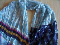 CODELLO schöner Schal im Mustermix blau MEN NEU