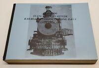 Vtg Colorado State Highway System Railroad Grade Crossing Data Train Book 1979