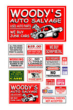 1/24 1:25 G scale model automobile salvage junkyard signs