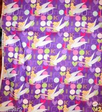TINKERBELL FABRIC Cotton Quilt I HEART TINKERBELL FABRIC PURPLE FABRIC BTY NEW