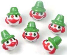 Lampwork Handmade Glass green Clown Beads Halloween (6)