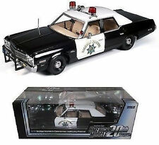 1:18 Ertl AUTOWORLD Elite 1974 DODGE Mónaco CALIFORNIA HIGHWAY PATROL