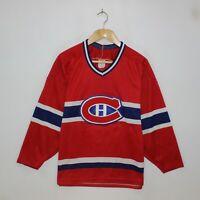 Vintage Montreal Canadiens CCM Maska NHL Hockey Jersey Mens Size Medium