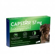 Capstar Green 6 Tablets for Dogs over 25 lbs - Fast Free Shipping -