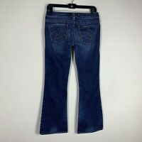 """SILVER JEANS Women's Size 28 Inseam 30"""" Tuesday Boot Cut Dark Wash Low Rise"""