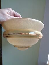 VINTAGE 1950`S AMBER FROSTED GLASS LIGHT/LAMP SHADE BEEHIVE SHAPE