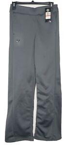 NWT Under Armour Womens XS Gray Fleece Sweat Pants Hight Waist leisure 1320909