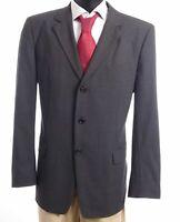 HUGO BOSS Red Sakko Jacket Albo Gr.54 grau uni Einreiher 3-Knopf -S686