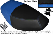 LIGHT BLUE & BLACK CUSTOM FITS PULSE SCOUT 50 BOATIAN DUAL LEATHER SEAT COVER