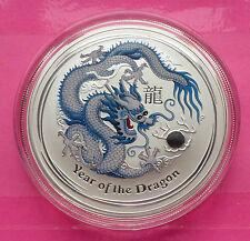 2012 AUSTRALIA PERTH MINT LUNAR DRAGON WHITE $1 ONE DOLLAR SILVER 1 oz COIN