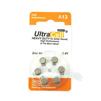 12 x Zinc Air Hearing Aid Battery A 13 7000ZD A13 S13A L13ZA 13A AC13E 13SA ZA13