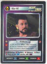 Star Trek CCG Riker Wil Blaze of Glory BOG UR Foil