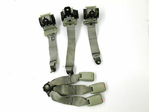 2003-2004 INFINITI M45 OEM REAR BACK SEAT BELTS AND RELEASE BUCKLES SET OF 3