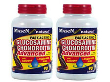 PACK OF 2 ) 90 Capsules GLUCOSAMINE CHONDROITIN w/ COLLAGEN and HYALURONIC ACID