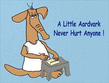 Aardvark Fridge Magnet - Humour/Cartoon