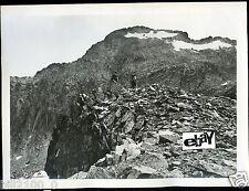 PHOTO ORIGINALE V.1910.PYRENEES.ENVIR.DE CAUTERETS .FACE NORD DU PIC DE CESTREDE